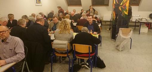 Fællesspisning til generalforsamling i Kvanløse Sogns Beboerforening februar 2020