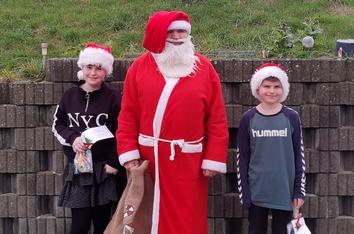 Julemanden var rundt med godteposer i Kvanløse og omegn i weekenden 5.-6.12 2020